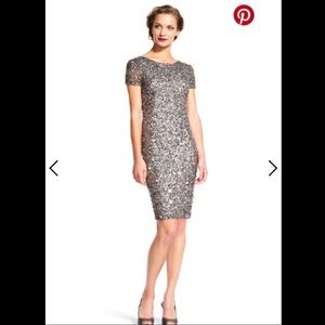 NWT Adrianna Papell Beaded Cocktail Dress